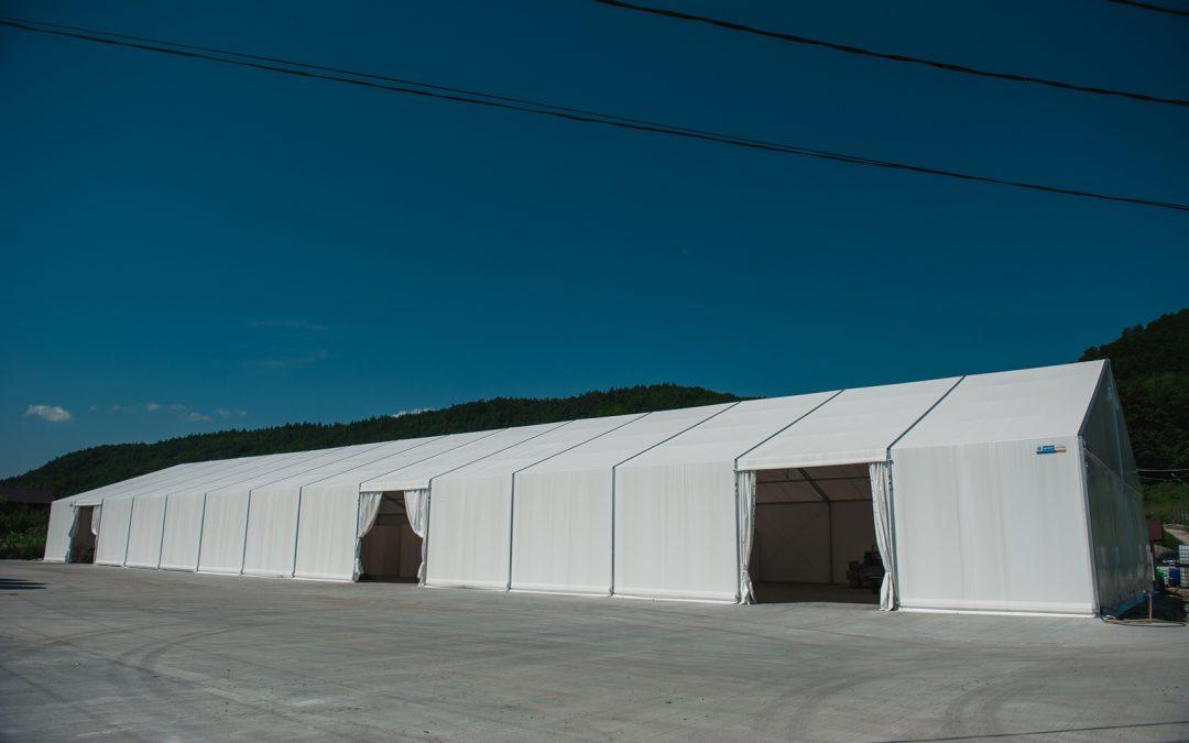 Solutii de configurare ale corturilor industriale